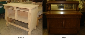 Before and After Image of Dresser